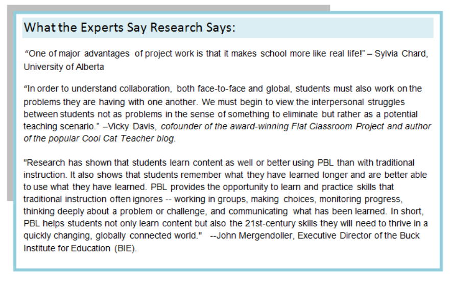 Project Based Learning American Academy Universal Education Council