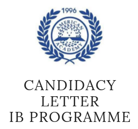 Candidacy Letter - IB Programme